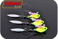 Wholesale 6 Trulinoya Jig Head Fishing Hook with Noctilucent Effect Spinner Spoon Lead Head Hook Soft Bait Fish Hook