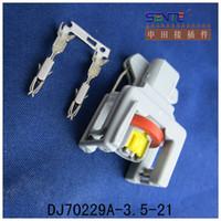 Wholesale 50 sets Pin P Auto fuel spray nozzle oil atomizer plug Car Electrical plug for Delphi connector