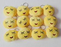 best cute keychains - best selling Emoji Smiley keychains cute cartoon plush pendant Bag Accessory car key chain CM size