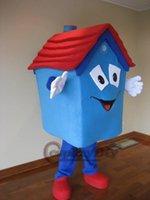 Wholesale Custom made lovely blue house mascot costume adult animal cartoon mascot costume festival party fancy dress