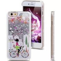 bicycle cover fits - For iPhone6 case New Hot selling luxury bicycle girl cat rabbit dynamic liquid quicksand phone case cover for iPhone6 plus inch iPhone5s