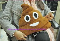 Wholesale 100pcs Cushion Emoji Pillow Gift Cute Shits Poop Stuffed Toy Doll Christmas Present Funny Plush Bolster Pillows EMS