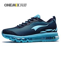 athletes green - ONEMIX Mens Sports Shoes Breathable Mesh Athlete Outdoor Shoes with Air Cushion Running Shoes for Men
