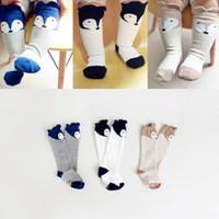 Wholesale 2015 Autumn New Design Babies Socks Cartoon Fox Ears Cotton Non slip Knee Highs Socks For Kids T
