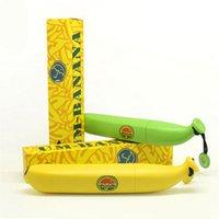 Wholesale Brand New Yellow Green UV Folding Banana Umbrella for Children Women Men Cute Windproof Kids Outdoor Rain Sun Umbrella