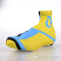 Wholesale SCOTT YELLOW BLUE Shoes Cover Black Size M L XL Ultra breathable Cycling Accessaries Nylon Tight Shoes Wear