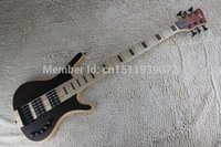 Wholesale Top quality new strings bass Dark brown Active pickups electric bass guitar