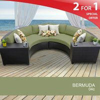 rattan outdoor furniture - 2015Bermuda Piece Outdoor Wicker Patio Furniture Set sofa
