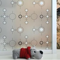 Wholesale self adhesive CM fashion circle Window Film glass sticker new creative home decor for bathroom Office living room