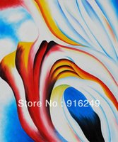 Wholesale Handpainted Famous Flower Oil Painting Reproduction of Georgia O Keeffe on Canvas Modern Home Decoration