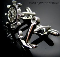 accesories for men - Anchor Cufflinks Engraving Cuff Link Silver Plated Abotoaduras Accesories for Men cf395