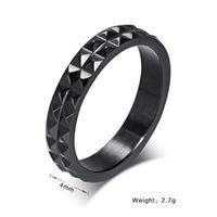 african chestnut - fashion cool black ring for women men water chestnut stainless steel punk engagement rings for women