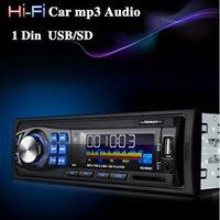 Wholesale 12V Car Audio Stereo MP3 Player Car Audio FM Radio USB In Dash FM Receiver MP3 Radio Player USB SD AUX Free DHL