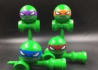 Wholesale 120pcs cm full pu ninja Kendama Ball toy Skillful Jling Game Ball Japanese Traditional Toy Balls Educational Toys DHL