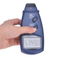Wholesale Digital Laser Photo Tachometer LCD Display Auto Range Non Contact RPM Meter Tool SM6234E