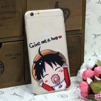 case bb - Cell Phone Case For iPhone Plus Transparent ONE PIECE Luffy BB Pattern Skin Cover Case