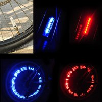 bicycle side car - Double side Bike Cycling Bicycle Fashion Motorcycle Car Tyre Tire Wheel Valve LED Flash Light Letter Change H1E1