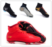 Wholesale NIKE Mercurial Superfly High Ankle FG CR7 Soccer Boots CR7 Cleats Men shoes Soccer Shoes Football Shoes