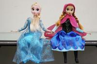 Moda de Nova Congelado princesa Elsa Anna bonecas Figuras de Ação PVC brinquedos bonecas de plástico de aniversário presente de Natal