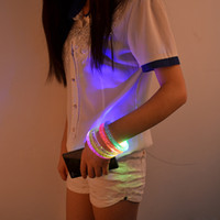 Wholesale 10pcs New arrival acrylic luminous bracelet LED bracelets stalls hot selling light emitting LED toys