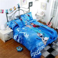 kids cartoon bedding set - 3D cartoon kid child Princess Elsa Anna Olaf Frozen bed set bed set twin single double queen size
