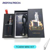 big gemini - 100 Original Newest e cigarette box mod TC40W MINI Kimsun TC40W Kit Big vapor w mod VS Tarot w mod Gemini Tank DHL
