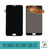 Wholesale 100 original White Black For Samsung Galaxy Note N7000 I9220 LCD display touch screen with digitizer Glass Assembly js95026