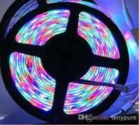 Cheap Wholesale -Wholesale - China post RGB 5M roll Waterproof Epoxy 3528 300 SMD LED Strip Light colorful string with Remote Control
