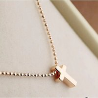 handmade clay pendant - New Product Handmade Arrival Real Gold Plated Trendy Turkey Jewelry Choker Small Cross Pendant Necklace for Men