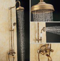 bathroom floor lighting - Bathroom Shower Sets Brass Antique New Brand Antique Brass quot Brass Shower Head Single Handle Shower Set Faucet
