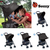 baby uv tent - Baby Stroller Rag Shade Blocks UV UVB Sun Rays Cover Baby Car Awning Rain Tent Multifunctional Stroller Protection Accessory