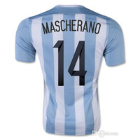 Wholesale Outdoor Apparel Accepted Customized Thai Quality Argentina Home jersey MESSI Soccer Tops Jersey New Soccer Jersey Shirt