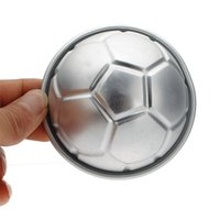 aluminium cake - pc Soccer Ball D Sports Football Birthday Cake Pan Tin Mold Mould Aluminium