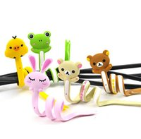 Wholesale Mix cartoon animal cable organizerTidy Cord winder wrapped wire device Cord holder earphone headphones management