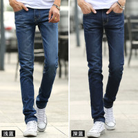 slim fit jeans - New Arrival Mens Jeans For Four Seasons Korean Slim Fit Straight Men s Jeans Denim Long Pants Plus Size Jeans Men