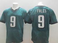 Wholesale 2014 New Style Nick Foles Jerseys Green White Black Elite Mens American Football Jerseys Hot Sale Top Quarterback Jersey Brand Sportswear