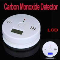 Wholesale LCD CO Carbon Monoxide Poisoning Sensor Monitor Alarm Detector White dropshipping