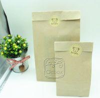 Wholesale Brown kraft paper bag for shopping food package gift bag