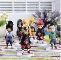 Wholesale New Kakashi Nara Shikamaru Gaara Sasuke Namikaze Minato PVC Naruto action figure set Naruto dolls