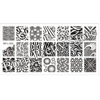 stamping nail art - Wave Texture Patterns Nail Art Stamp Template Image Plate BORN PRETTY BP L005 x cm
