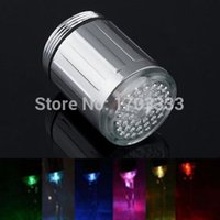 Wholesale color Glowing LED faucet tap Temperature Sensor LED faucet light Color Change DW01