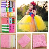 crochet tutu tops - Inch Tutu Crochet Tube Top Baby Stretch Colored Tutu Headband