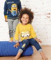 designer baby clothes - 2016 Kids Clothes Fashion Minions Set Baby Boy Clothes Casual Boys Cartoon Designer Children Tracksuit Minion Clothes Christmas Hoodies