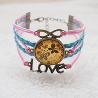 antique silver items - Antique Silver bronze heart infinity charm bracelets multi colors handmade and bangles gift items for women and men multilayer leather