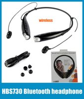 Wholesale HBS Bluetooth Wireless Stereo Earphones Headphone Sport Neckband Headset LG Headphones For IPhone Galaxy S3 S4 S5 I9600 Note3 EAR001
