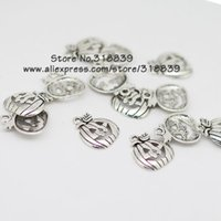 halloween charms - 50pcs mm Antique Silver Metal Alloy Halloween Charms Terror Smile Pumpkin Jewelry Charms