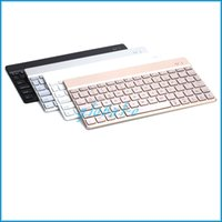 Wholesale Universal Ultrathin Aluminum ABS Wireless Bluetooth Keyboard for iPad Android Tablet PC FS F3S With colors and Retail Package