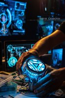 american plastic products - New American anime figure ABS model toys Iron Man Tony Heart Reactor Ark reactor ABS Model Can emit light CM