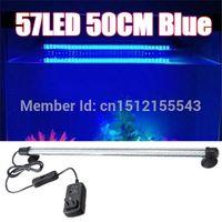 Wholesale Aquarium Fish Tank LED Light Bright Blue White CM Bar Submersible Waterproof Clip Lamp order lt no track