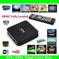 1GB 8GB Black Hi-Q Original MX2 Amlogic MX Android TV G BOX Full Loaded AML8726 iStream XBMC Smart Google Droidbox KODI Helix G-Box Media Player 1GB 8GB
